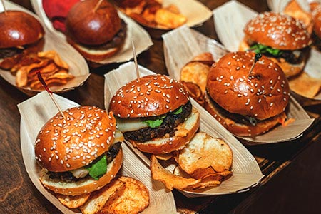 Mini burgers allow options for all at Burger Restaurant Franchise